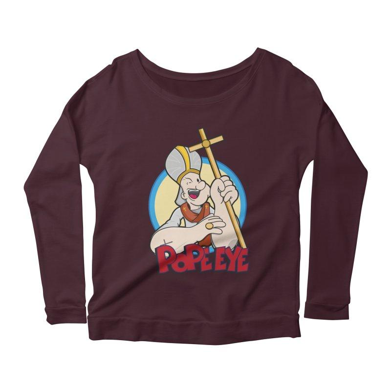 Pope Eye Women's Scoop Neck Longsleeve T-Shirt by VarieTeez Designs