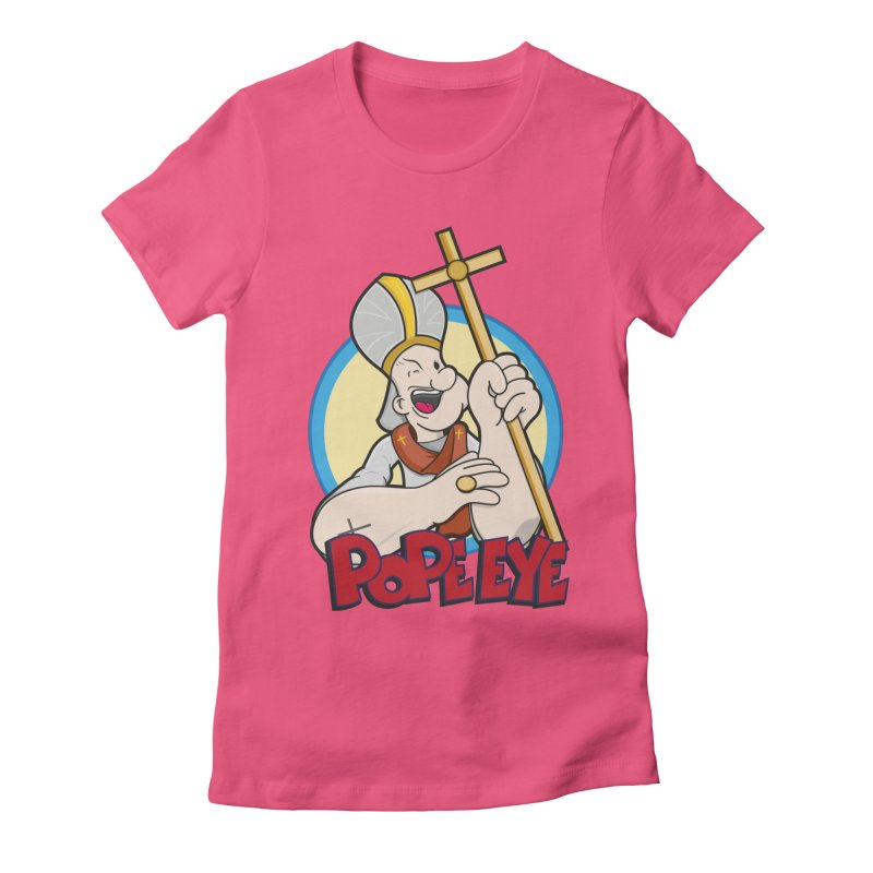 Pope Eye Women's Fitted T-Shirt by VarieTeez Designs