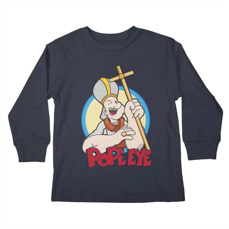 Pope Eye Kids Longsleeve T-Shirt by VarieTeez Designs