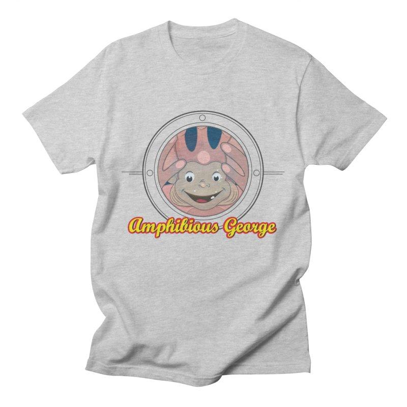 Amphibious George Men's T-Shirt by VarieTeez Designs