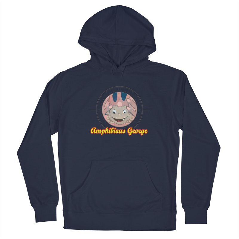 Amphibious George Men's Pullover Hoody by VarieTeez Designs