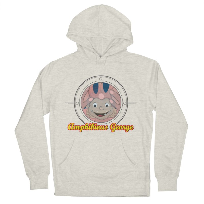 Amphibious George Men's Pullover Hoody by VarieTeez Designs