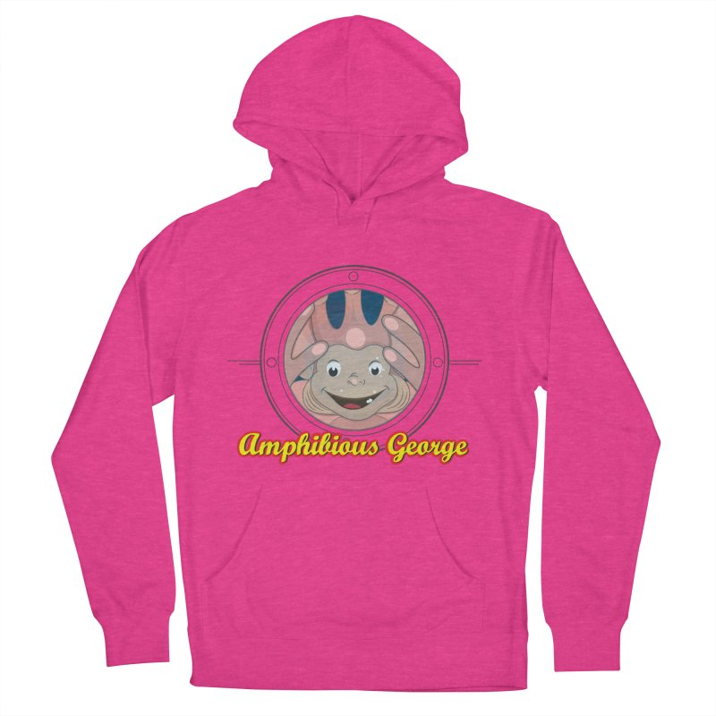 Amphibious George Men's French Terry Pullover Hoody by VarieTeez Designs