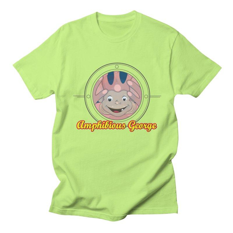 Amphibious George Men's T-Shirt by VarieTeez Designs