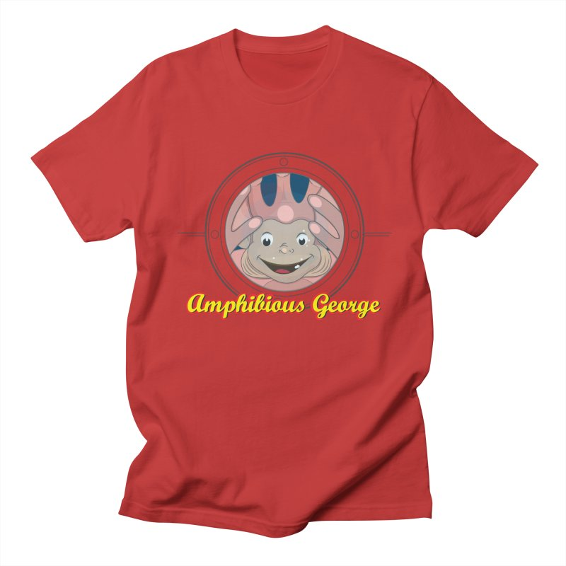 Amphibious George Men's Regular T-Shirt by VarieTeez Designs