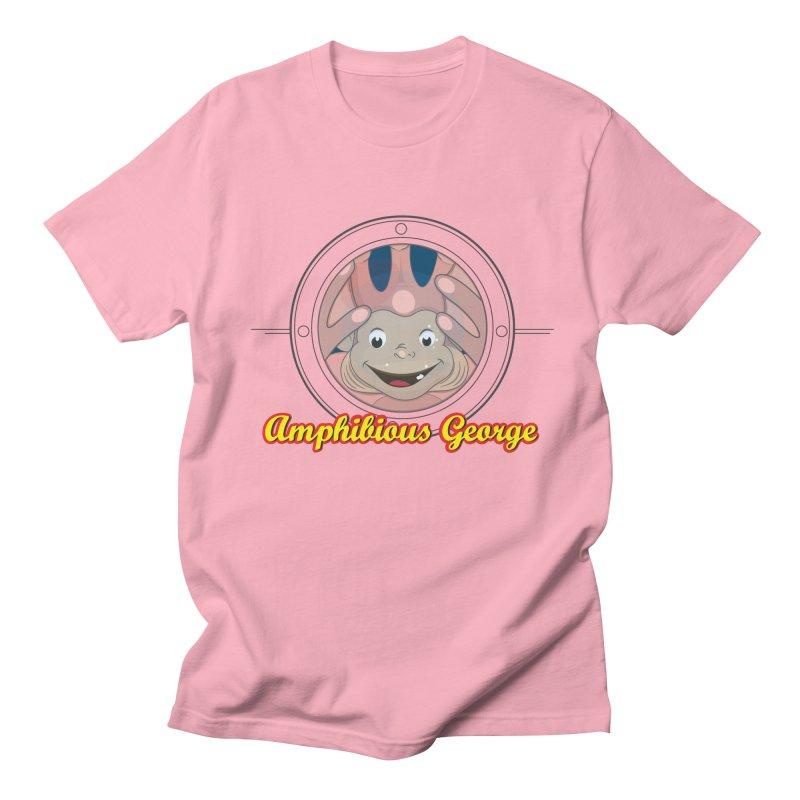 Amphibious George Men's T-shirt by VarieTeez's Artist Shop