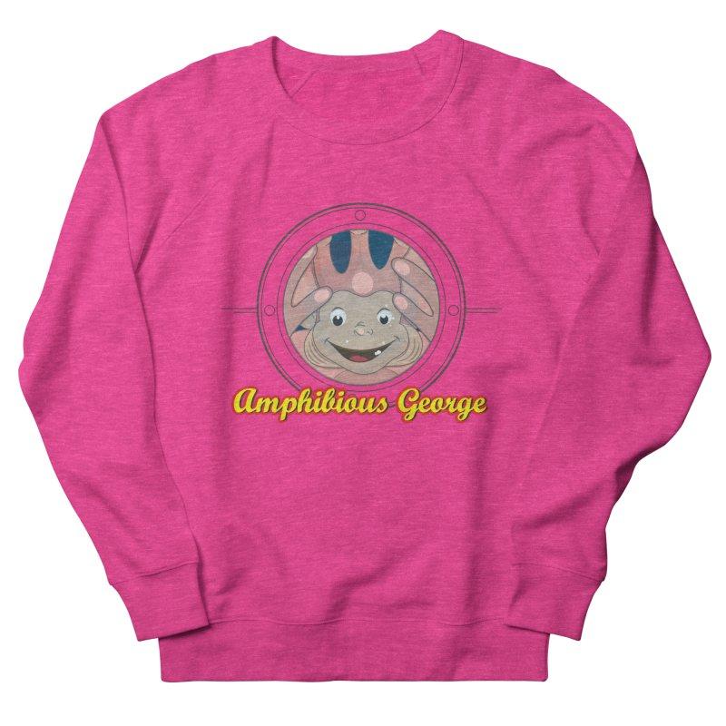 Amphibious George Men's Sweatshirt by VarieTeez Designs