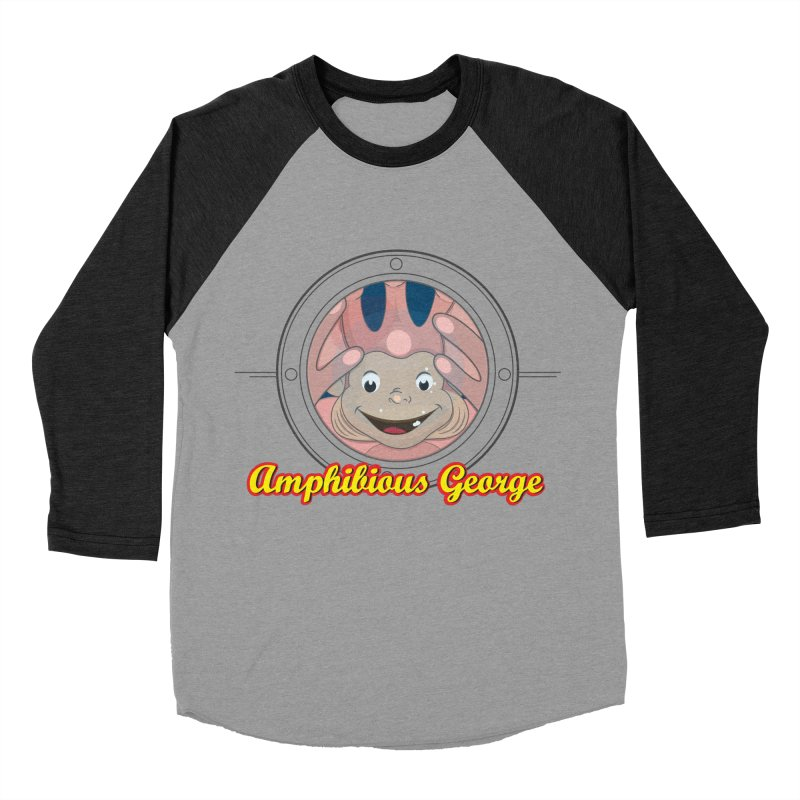 Amphibious George Men's Baseball Triblend Longsleeve T-Shirt by VarieTeez Designs