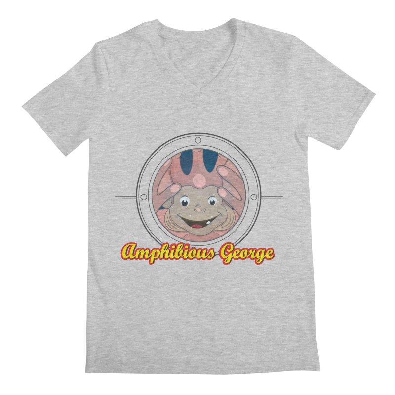 Amphibious George Men's V-Neck by VarieTeez Designs