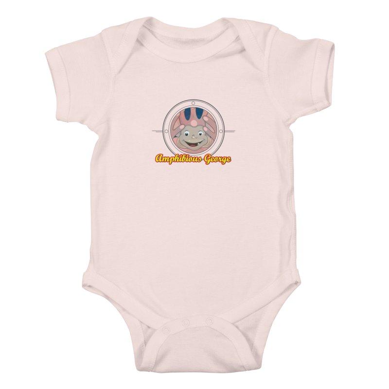 Amphibious George Kids Baby Bodysuit by VarieTeez Designs