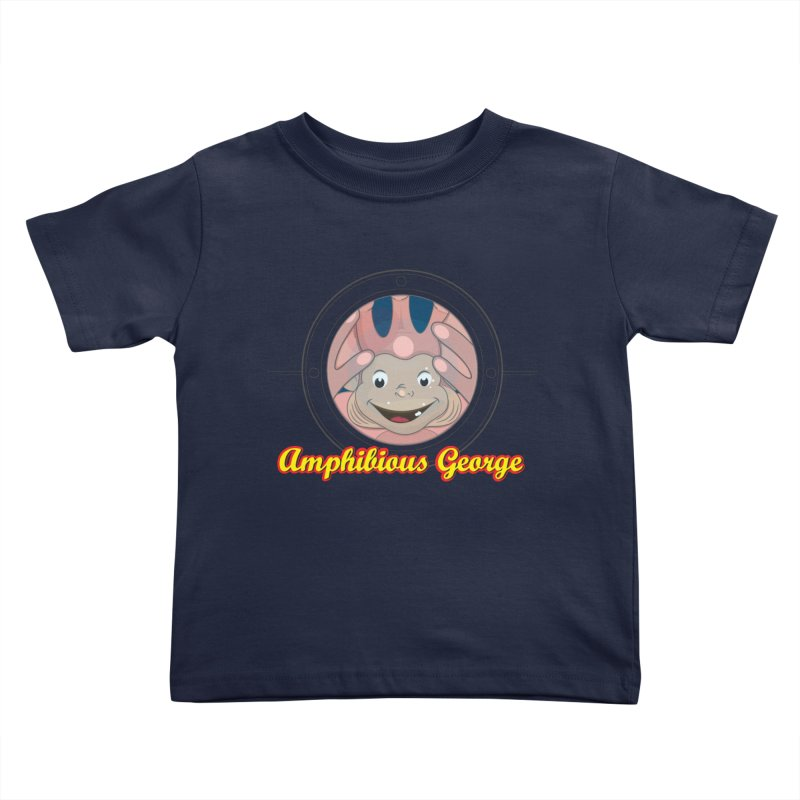 Amphibious George Kids Toddler T-Shirt by VarieTeez Designs