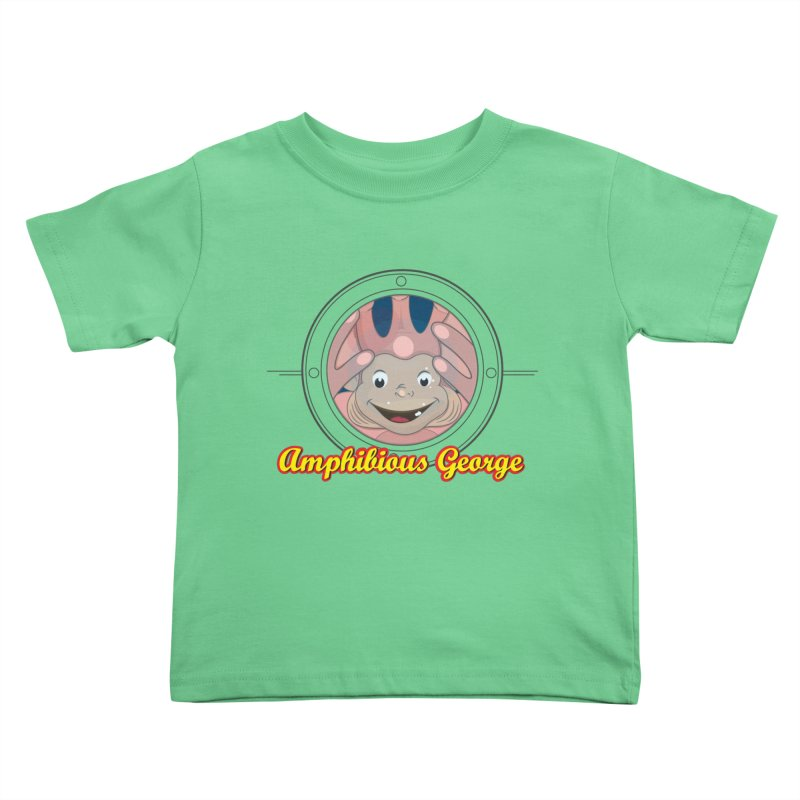 Amphibious George Kids Toddler T-Shirt by VarieTeez's Artist Shop