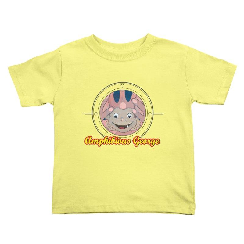 Amphibious George Kids Toddler T-Shirt by VarieTeez Designs