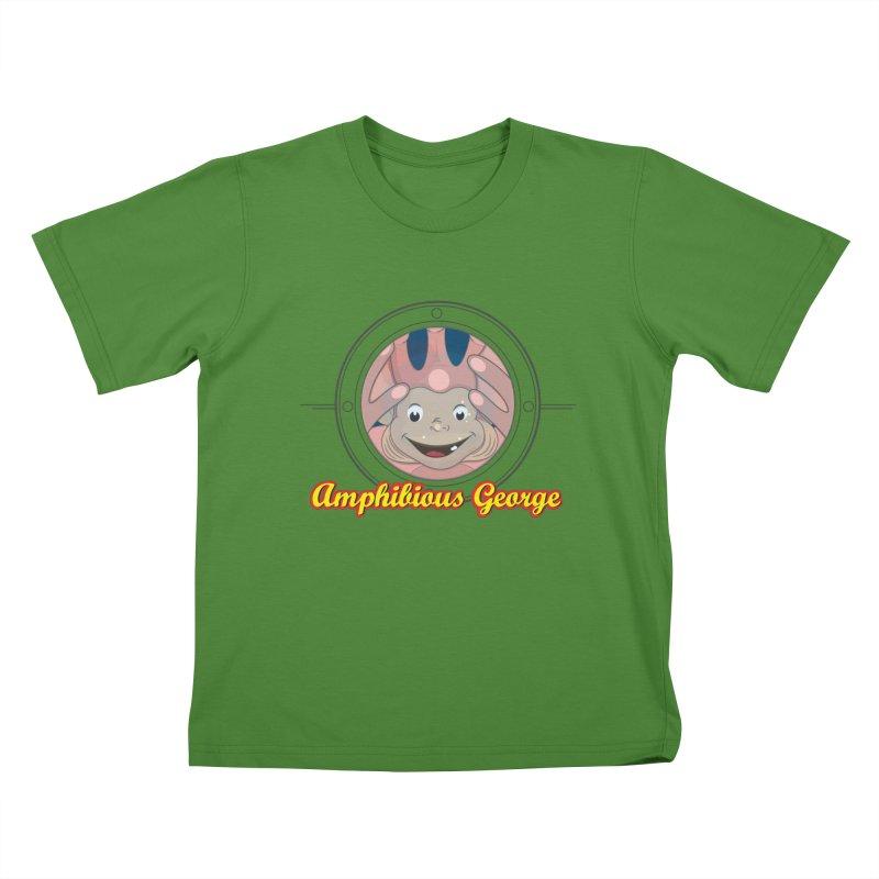 Amphibious George Kids T-Shirt by VarieTeez Designs