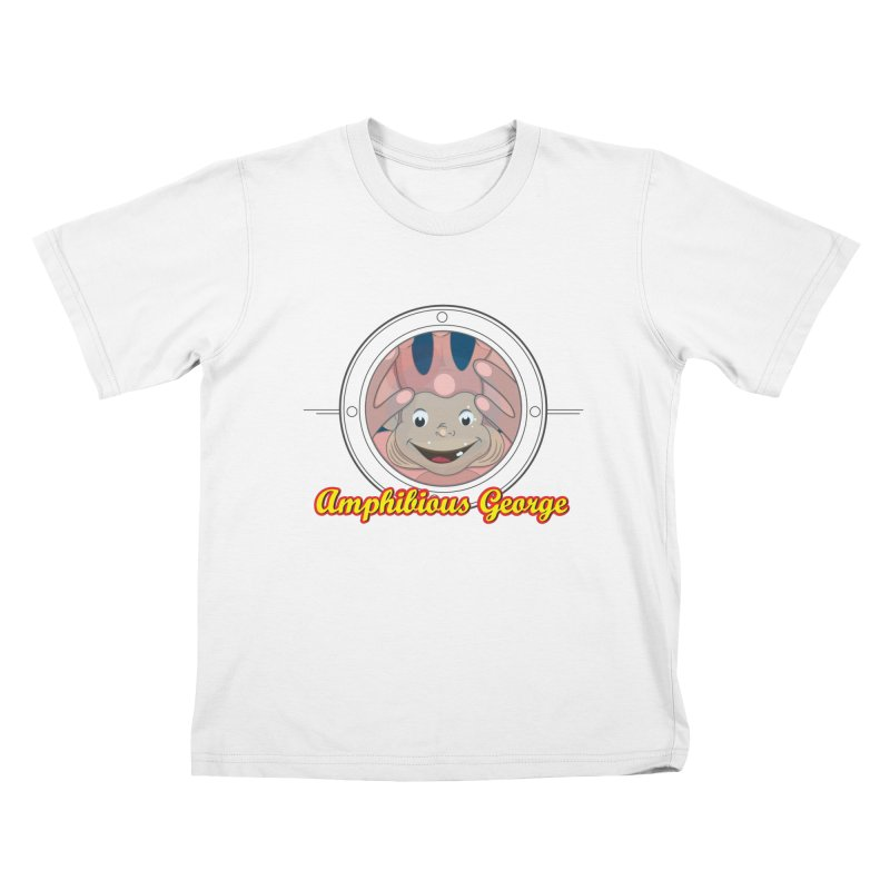 Amphibious George Kids T-shirt by VarieTeez Designs