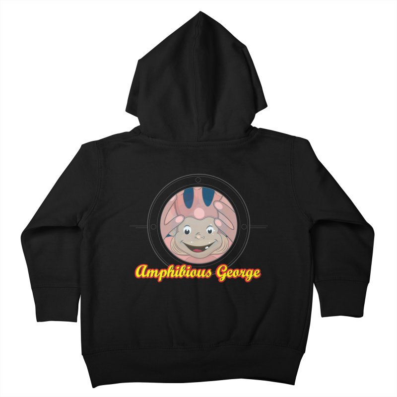 Amphibious George Kids Toddler Zip-Up Hoody by VarieTeez Designs
