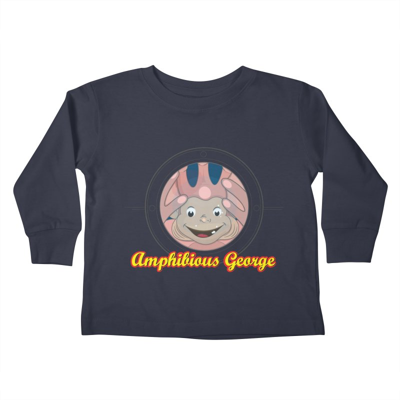 Amphibious George Kids Toddler Longsleeve T-Shirt by VarieTeez Designs