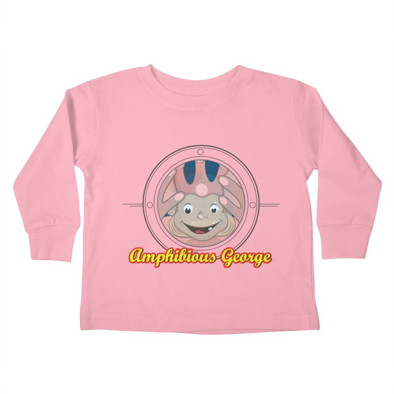 Amphibious George Kids Toddler Longsleeve T-Shirt by VarieTeez Designs