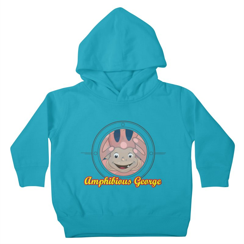 Amphibious George Kids Toddler Pullover Hoody by VarieTeez Designs