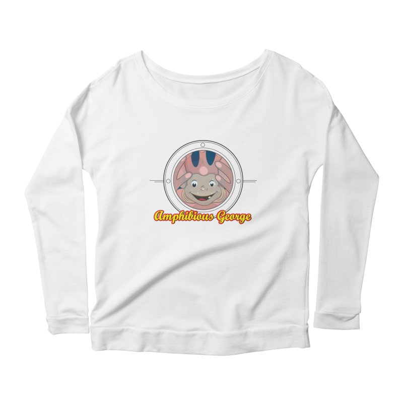 Amphibious George Women's Scoop Neck Longsleeve T-Shirt by VarieTeez Designs