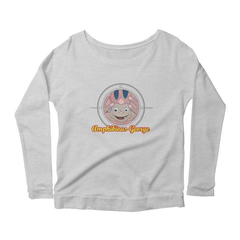 Amphibious George Women's Scoop Neck Longsleeve T-Shirt by VarieTeez Designs