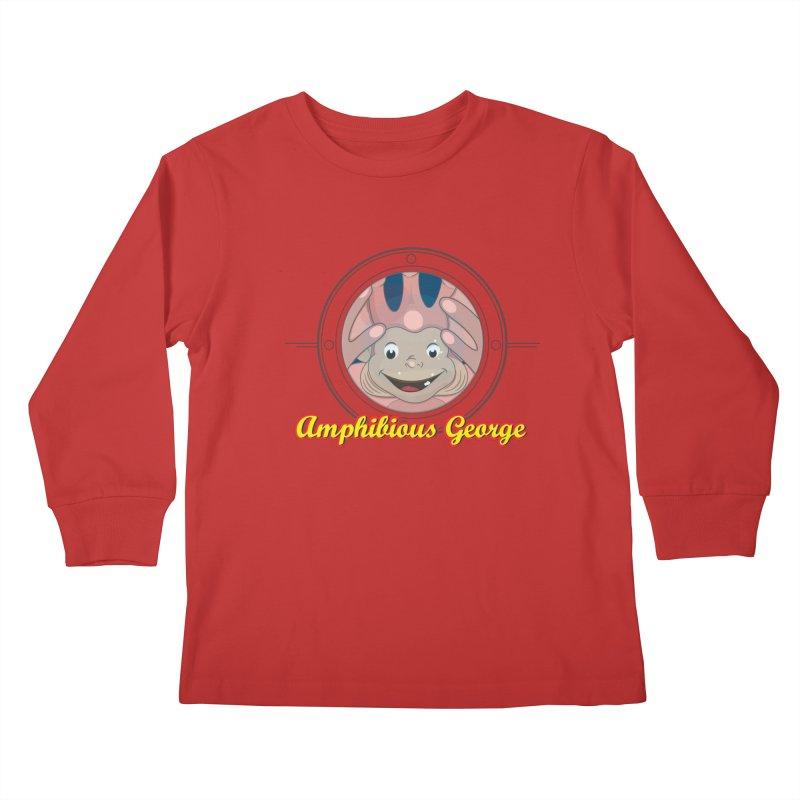 Amphibious George Kids Longsleeve T-Shirt by VarieTeez Designs