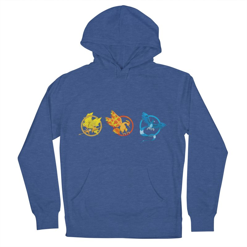 Hunger Games Catching Pokemon  Men's French Terry Pullover Hoody by VarieTeez Designs