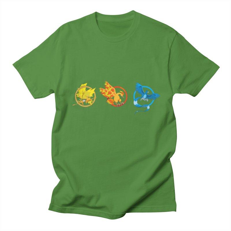 Hunger Games Catching Pokemon  Men's T-shirt by VarieTeez's Artist Shop