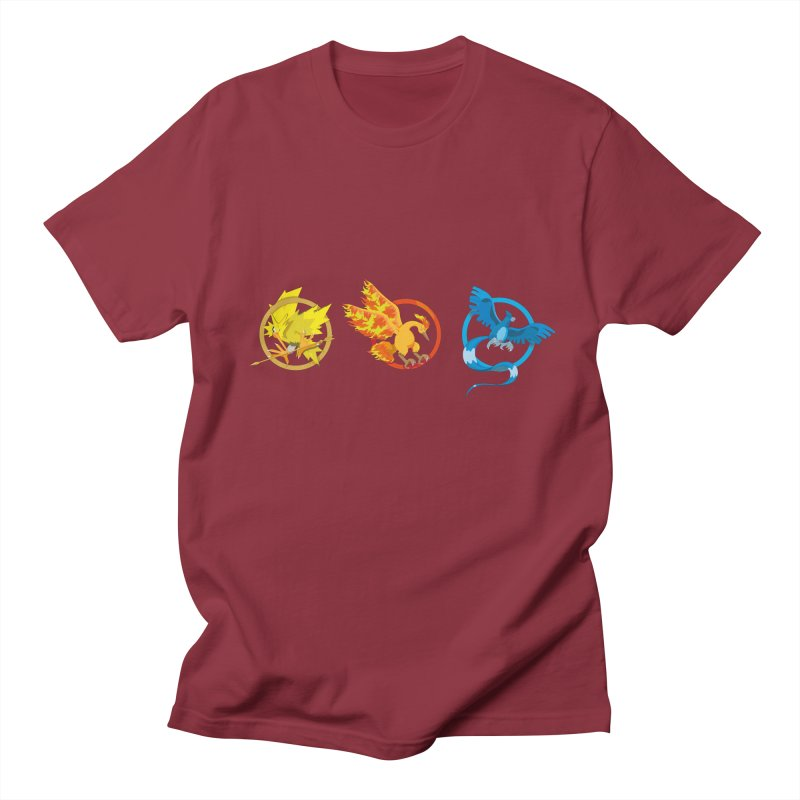 Hunger Games Catching Pokemon  Men's T-shirt by VarieTeez Designs