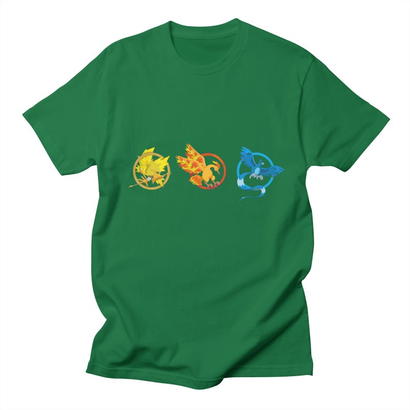 Hunger Games Catching Pokemon  Men's Regular T-Shirt by VarieTeez Designs
