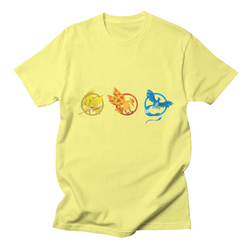 Hunger Games Catching Pokemon  Men's T-Shirt by VarieTeez Designs