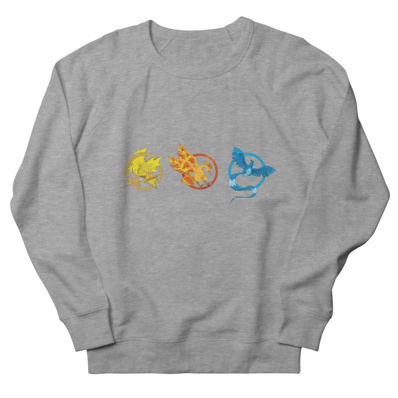 Hunger Games Catching Pokemon  Women's French Terry Sweatshirt by VarieTeez Designs