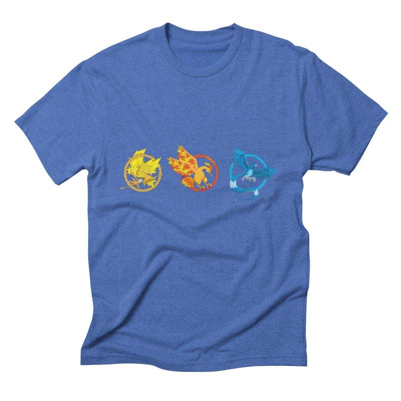 Hunger Games Catching Pokemon  Men's Triblend T-Shirt by VarieTeez Designs