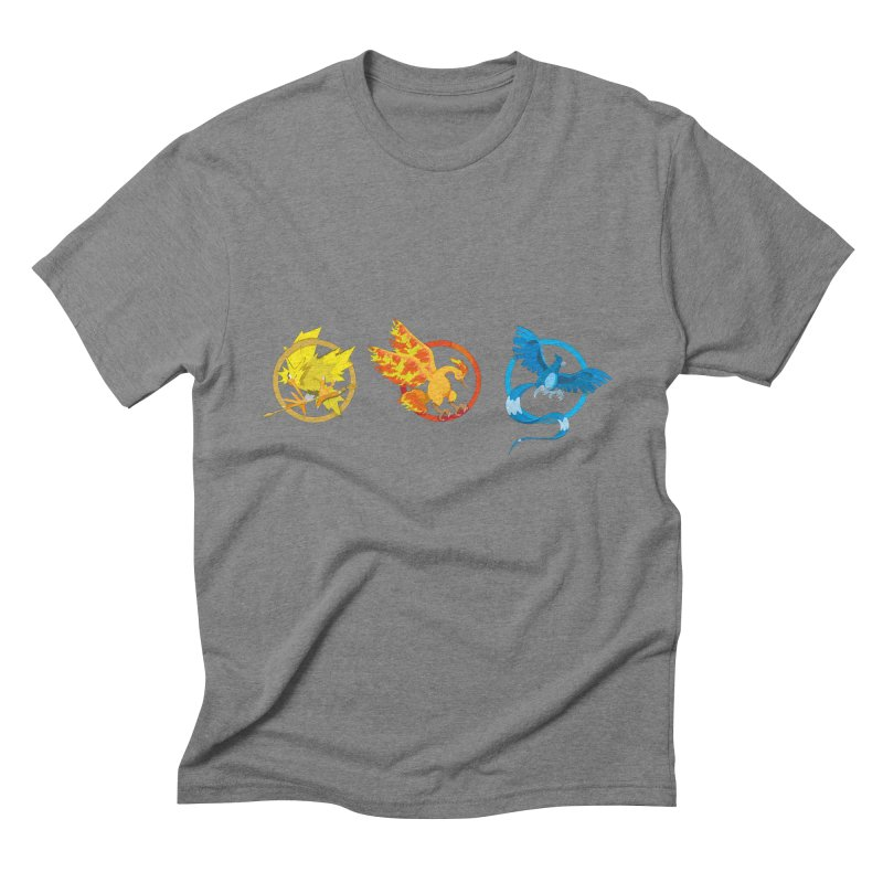Hunger Games Catching Pokemon  Men's Triblend T-Shirt by VarieTeez Designs
