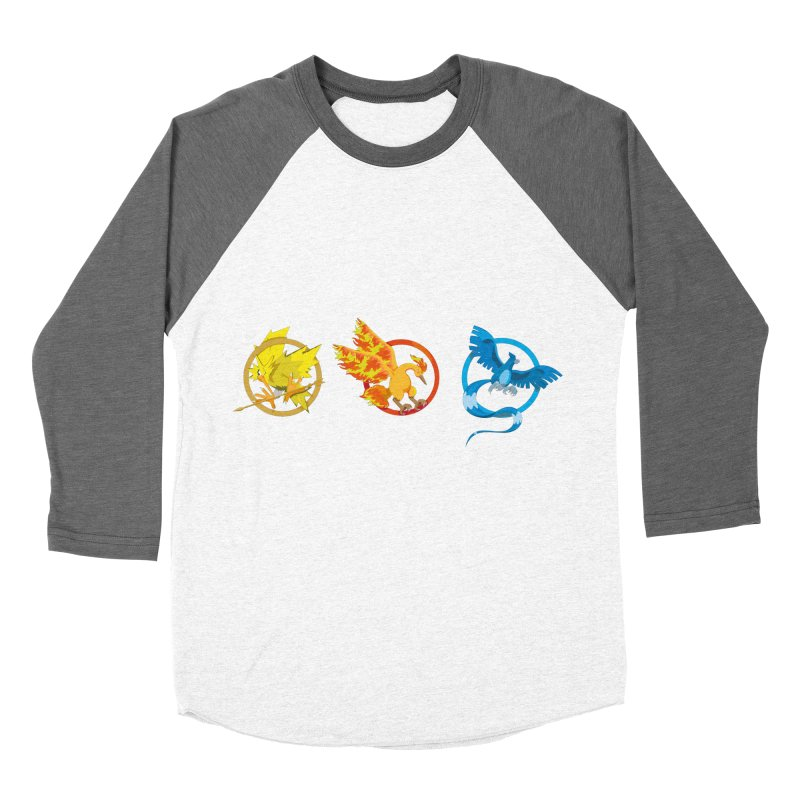 Hunger Games Catching Pokemon  Women's Baseball Triblend Longsleeve T-Shirt by VarieTeez Designs
