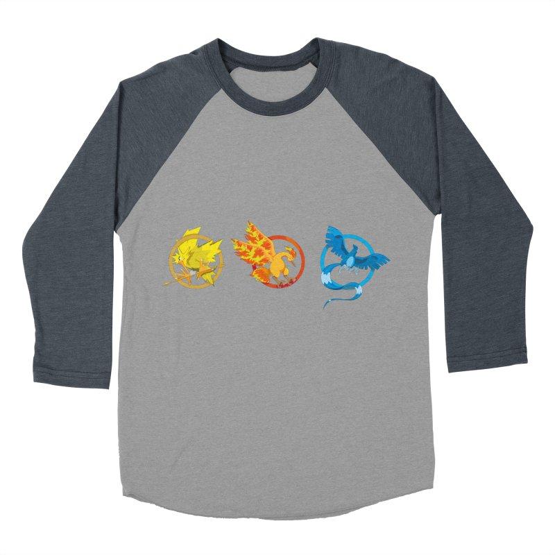 Hunger Games Catching Pokemon  Women's Baseball Triblend T-Shirt by VarieTeez Designs