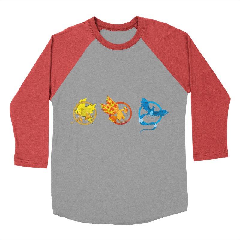 Hunger Games Catching Pokemon  Men's Baseball Triblend T-Shirt by VarieTeez's Artist Shop