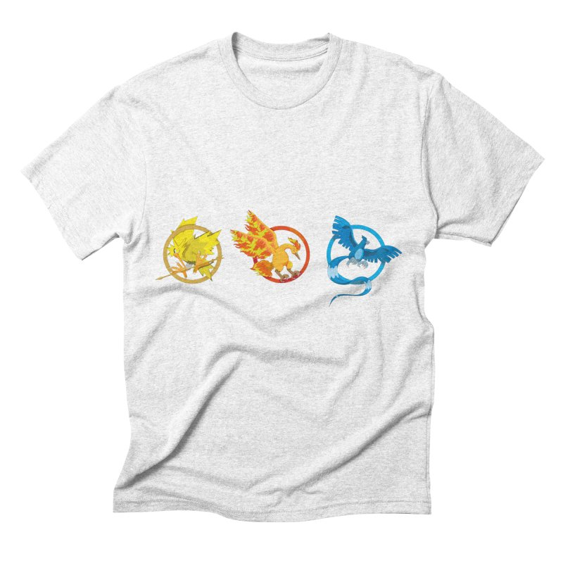 Hunger Games Catching Pokemon  Men's Triblend T-shirt by VarieTeez's Artist Shop