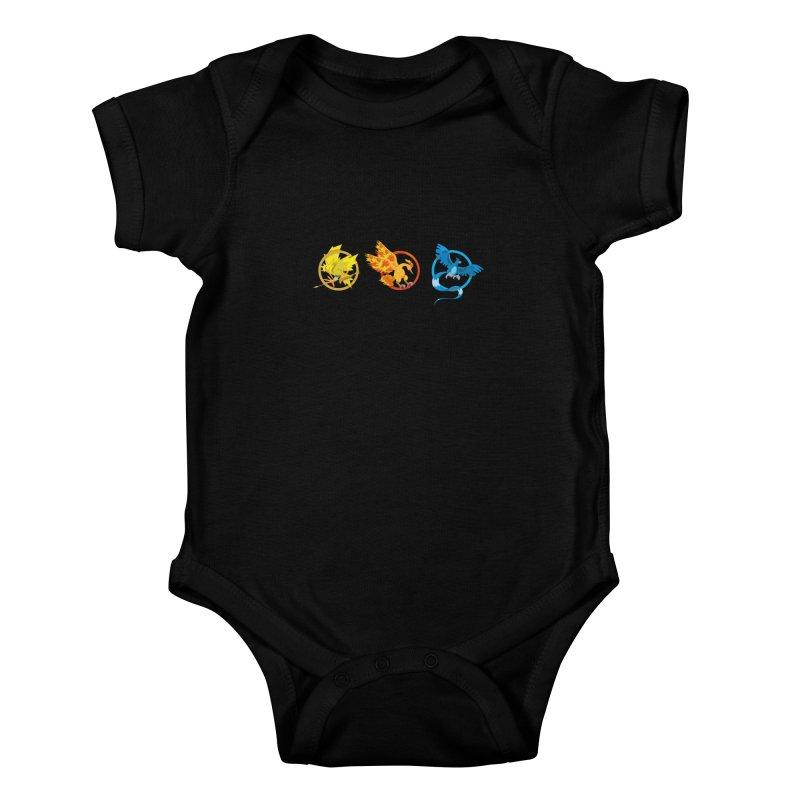 Hunger Games Catching Pokemon  Kids Baby Bodysuit by VarieTeez Designs