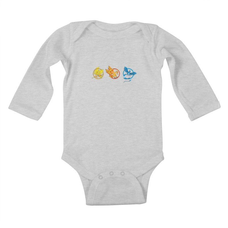 Hunger Games Catching Pokemon  Kids Baby Longsleeve Bodysuit by VarieTeez's Artist Shop