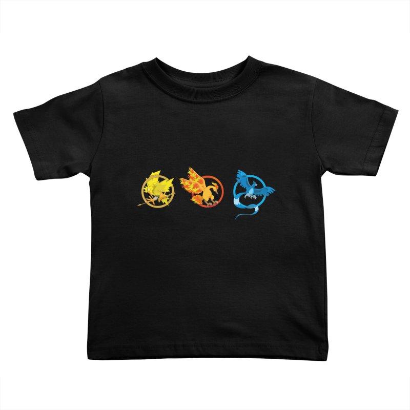 Hunger Games Catching Pokemon  Kids Toddler T-Shirt by VarieTeez Designs