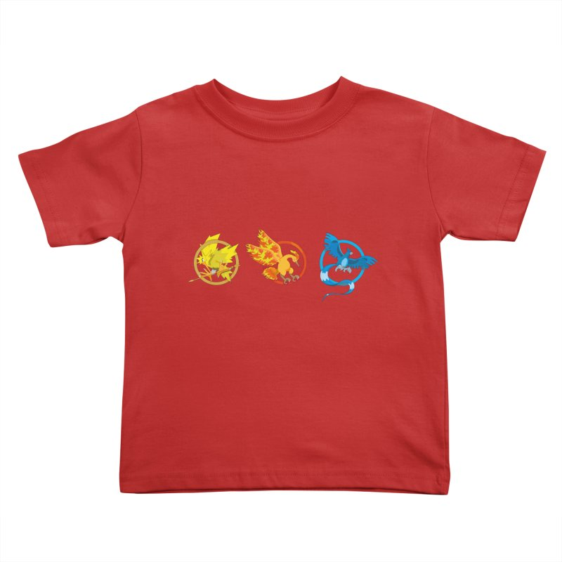 Hunger Games Catching Pokemon  Kids Toddler T-Shirt by VarieTeez Designs