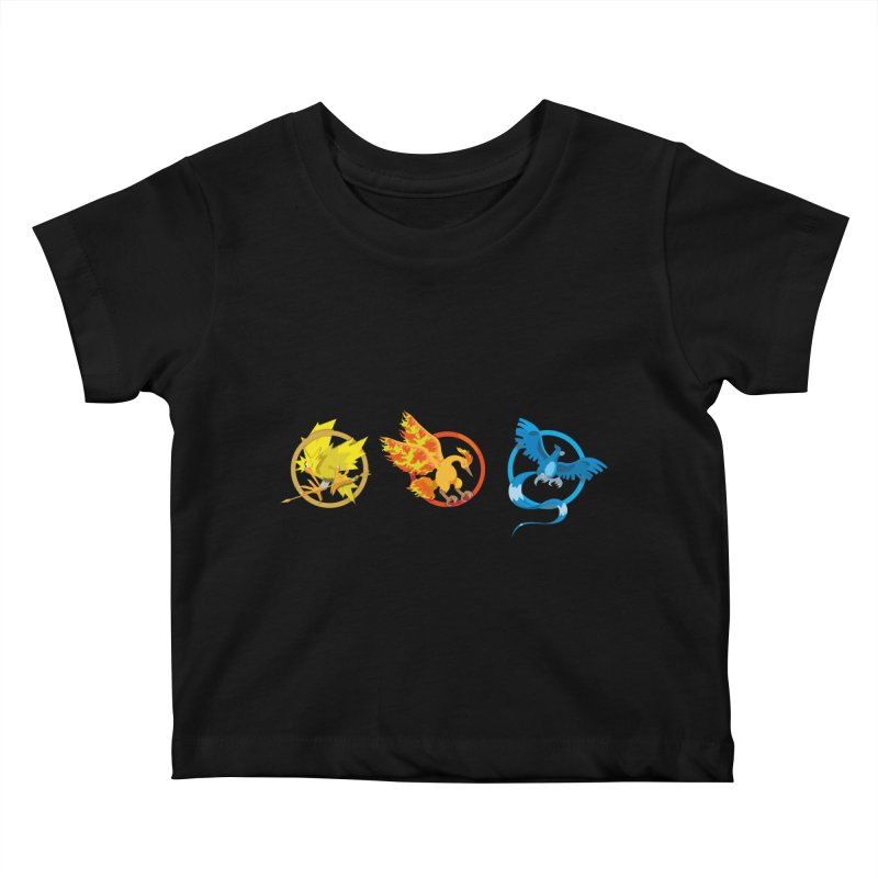 Hunger Games Catching Pokemon  Kids Baby T-Shirt by VarieTeez Designs