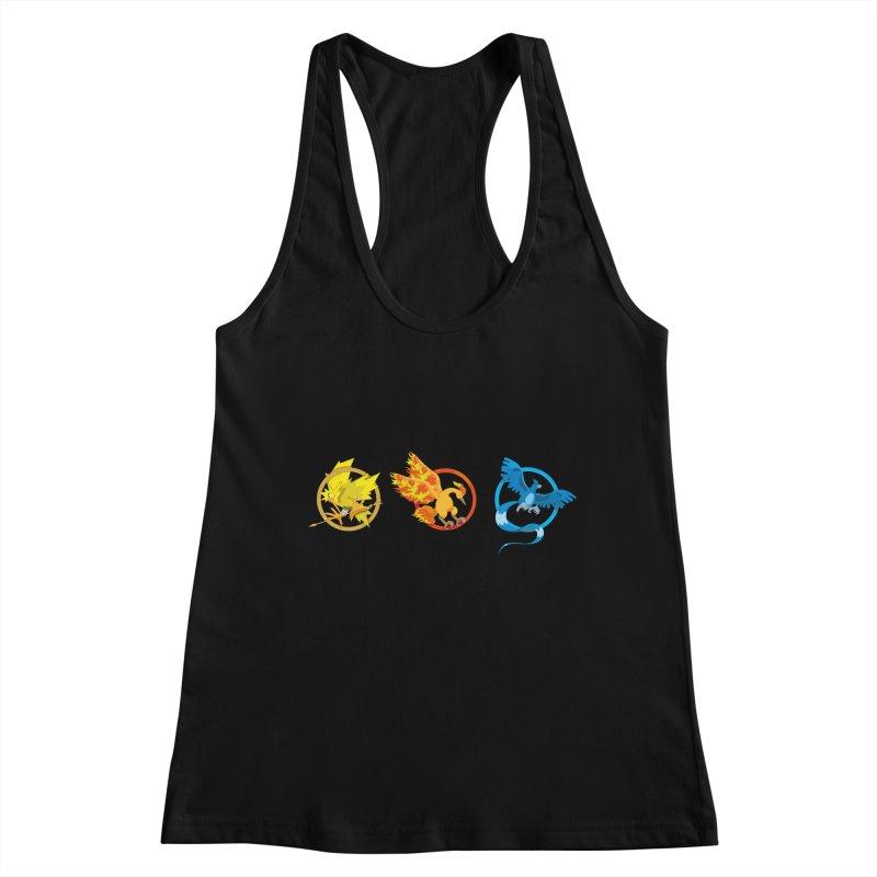 Hunger Games Catching Pokemon  Women's Tank by VarieTeez Designs