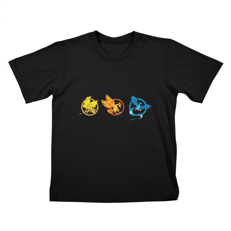 Hunger Games Catching Pokemon  Kids T-Shirt by VarieTeez Designs