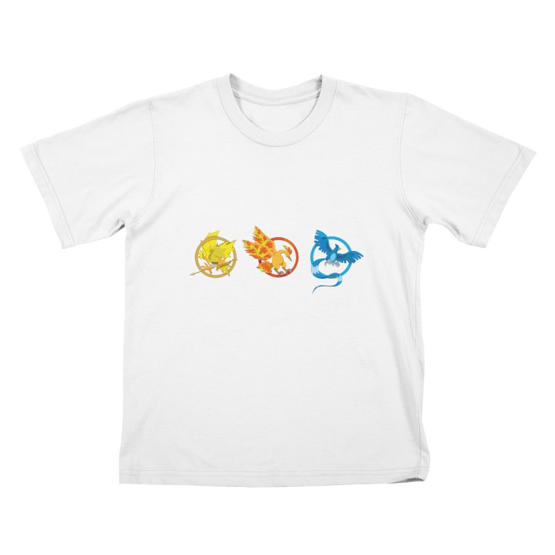 Hunger Games Catching Pokemon  Kids T-Shirt by VarieTeez Designs