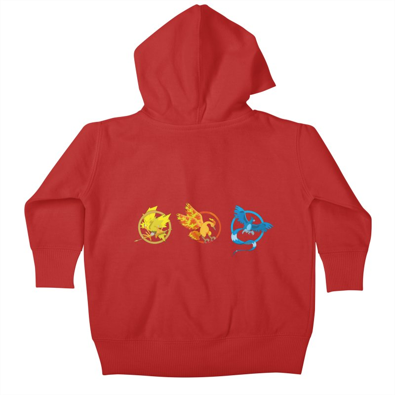 Hunger Games Catching Pokemon  Kids Baby Zip-Up Hoody by VarieTeez Designs