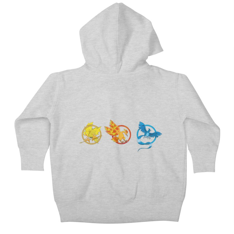 Hunger Games Catching Pokemon  Kids Baby Zip-Up Hoody by VarieTeez Designs