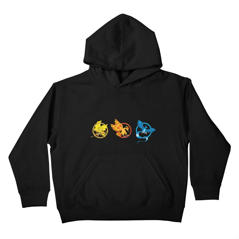 Hunger Games Catching Pokemon  Kids Pullover Hoody by VarieTeez Designs