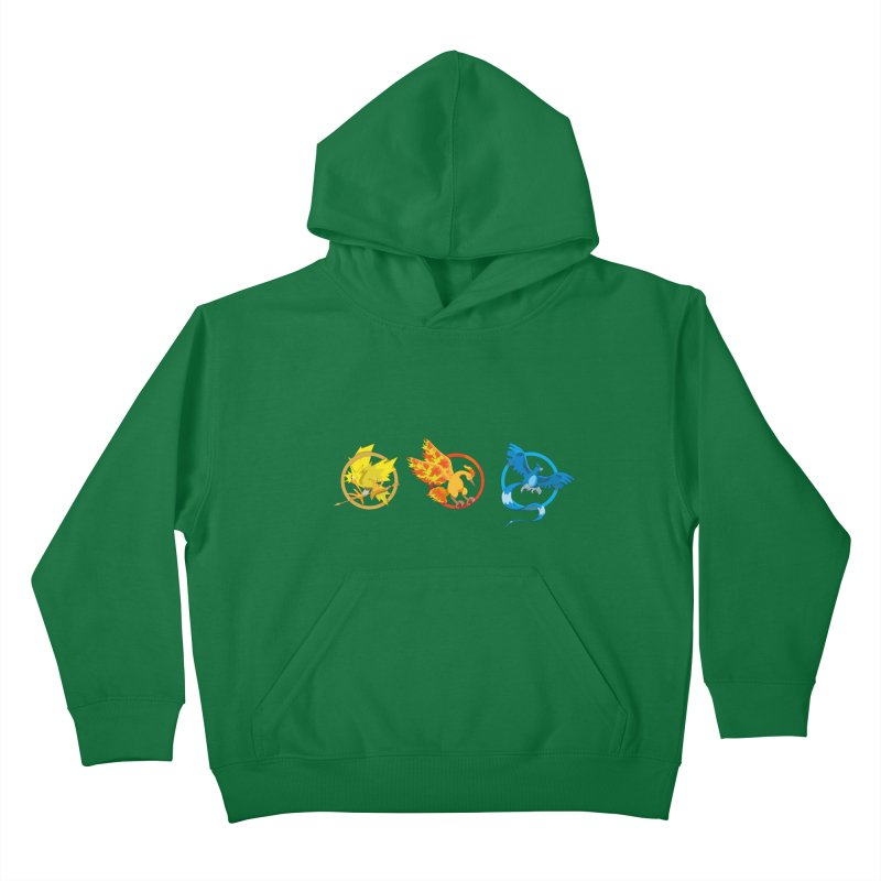 Hunger Games Catching Pokemon  Kids Pullover Hoody by VarieTeez's Artist Shop
